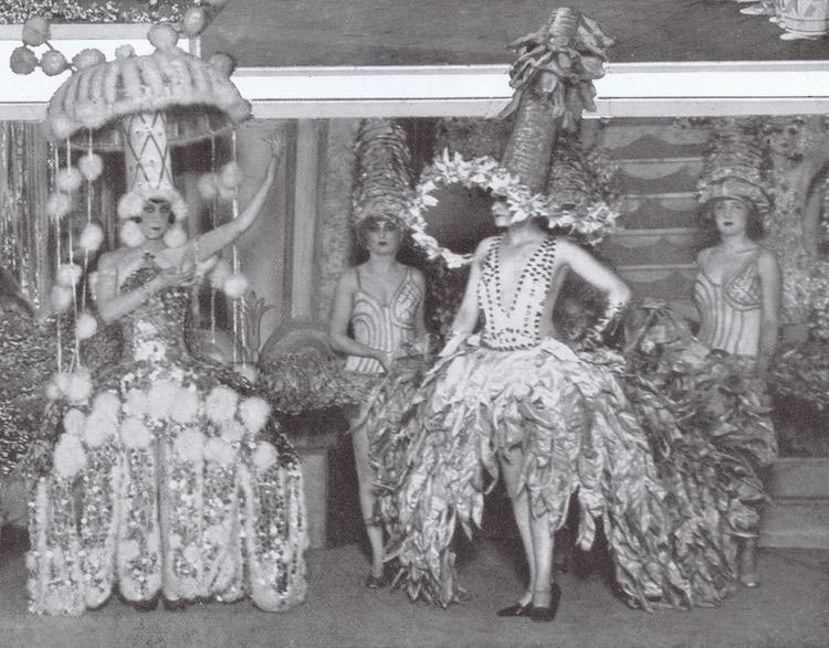 Part of the scene Horloge de Fetes with costumes designed by Zig for the show Un Vent de Folie at the Folies Bergere, 1927