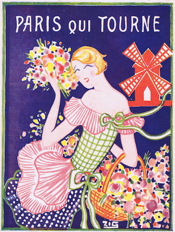 Artwork by Zig for the programme of the show Paris Qui Tourne at the Moulin Rouge, 1928