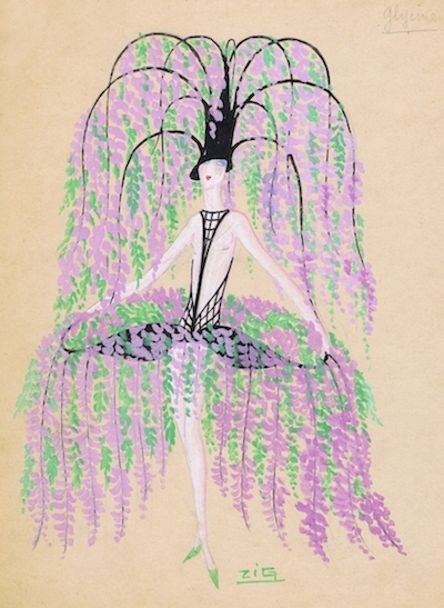 A costume design by Zig for Wisteria, 1920s