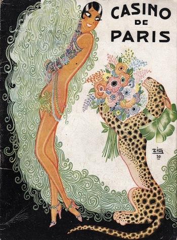 Artwork by Zig for the programme of the show Paris qui Remue, featuring Josephine Baker at the casino de Paris, 1930