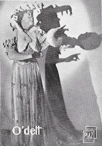 A photograph of O'dett, in costume, 1936