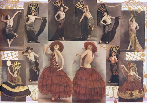 Some of Zig's costumes for the scene Les Danses, in the show Paris - New York from the Casino de Paris, 1927