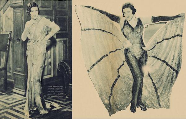 Jane Marnac in the film Paris-Beguin (1931) costumed by Zig