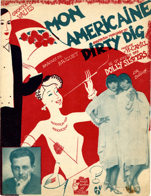 Sheet music for Mon Américaine Dirty Dig written by Harry Cahill (taken from the internet)