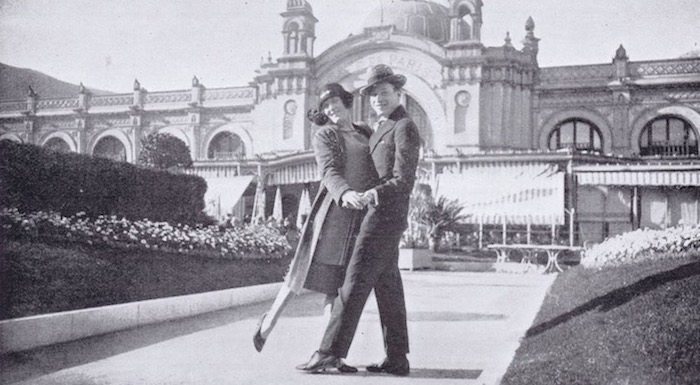 Fay Harcourt and Harry Cahill in Monte Carlo, February 1925