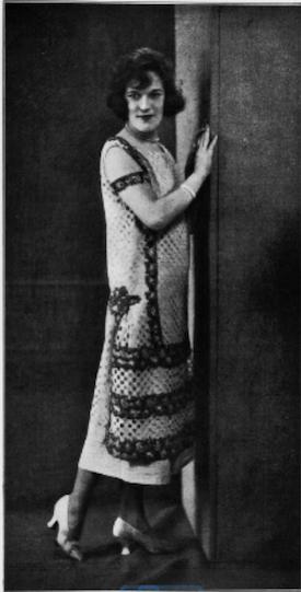 Portrait of Fay Harcourt in 1924, Paris