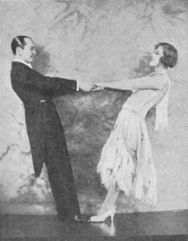Fay Harcourt and Nicholas dancing in London, 1927
