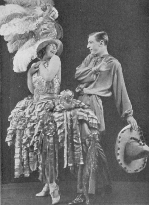Harry Cahill and Spinelly at Theatre du Vaudeville, Paris in 1923