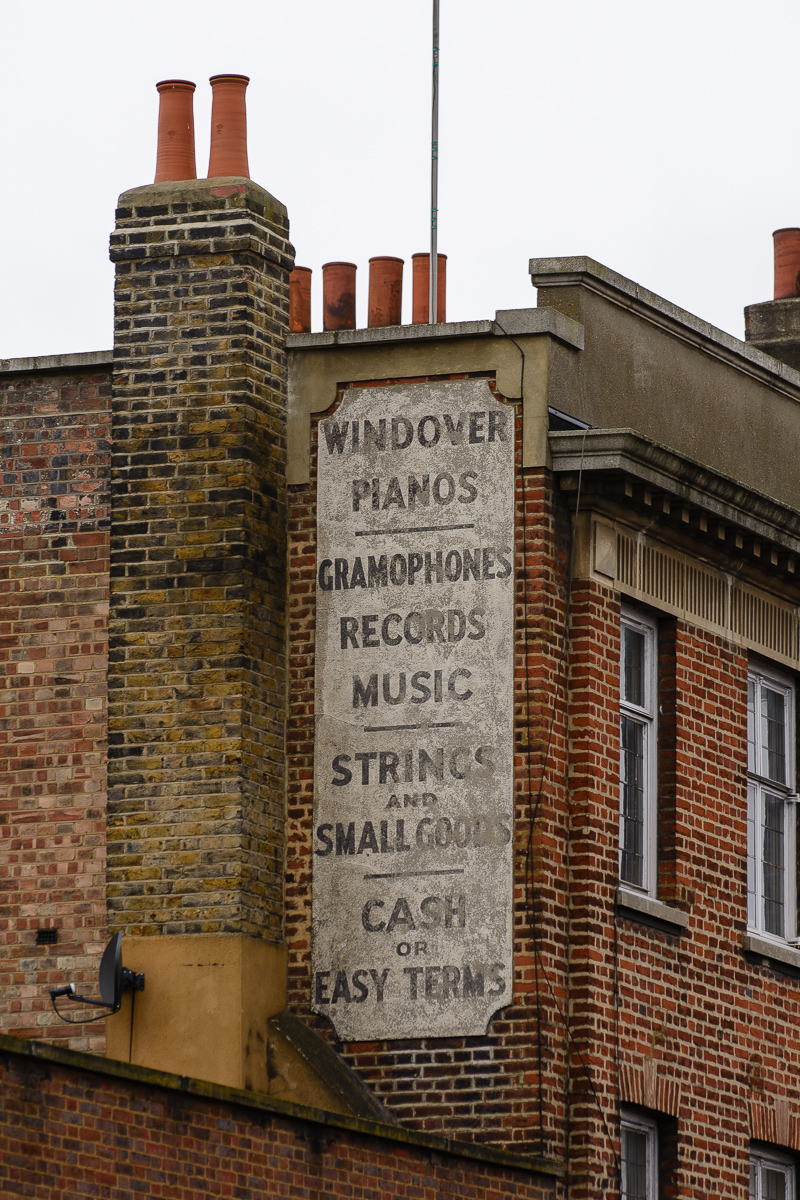 Ghost sign for Windover Pianos from Ghost Signs A London Story