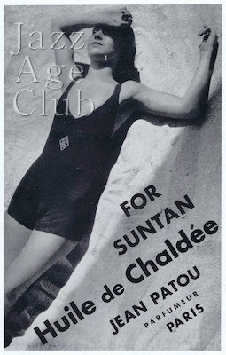 An advert for Patou's suntan product, 1930