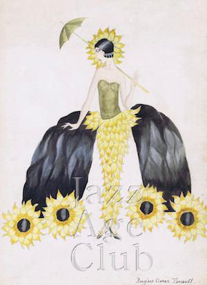 A sketch by Bergere Oscar Perrault, 1920s