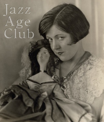 Movie star Marie Provost with her boudoir doll, 1920s