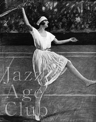 The French tennis star Suzanne Leglen