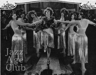 Betty Compson and chorus in a cabaret scene from Woman to Woman (1923)