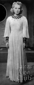 Birth of a gown no8: Rita Johnson wardrobe test shot