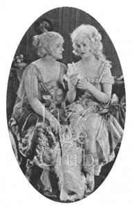 Eva Moore (left) and Mae Marsh (right) in The Flames of Passion (1922)
