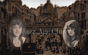 The front cover of the press kit / brochure for Two Lancashire Lasses in London - on left Lettie Paxton and on right Dolly Tree