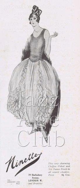 Advert for Ninette, 1920s
