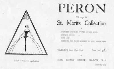 Peron's advert for the St Moritz Collection (1923)