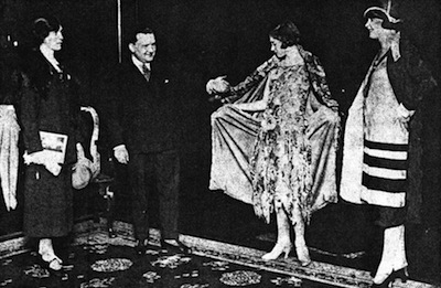 M.Maurice of Jean Peron and some mannequins (1925)