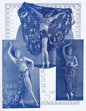 Gypsy Rhoumaje as 'La Princesse aux Saphirs' in Le Luxe de Paris (1928)