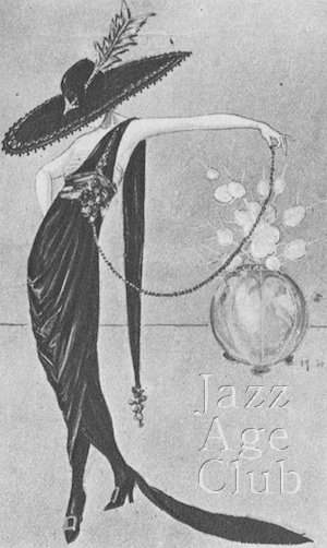 A sketch by Marcelle de St Martin for one of the early Famous Player's Lasky films (early 1920s)