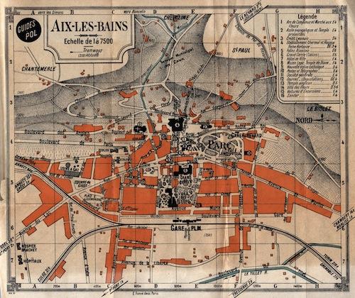 Map of Aix-Le-Bains
