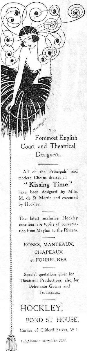 Advert for Hockley's featuring Marcelle de St Martin