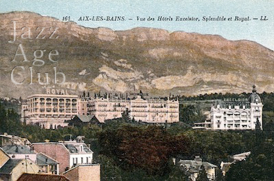 The Excelsior and the Spendide-Royal hotels at Aix-Le-Bain
