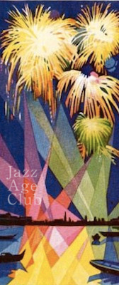 Fireworks at the Hotel Excelsior, Lido, Venice, 1920s