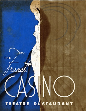 Advert for the French Casino, New York