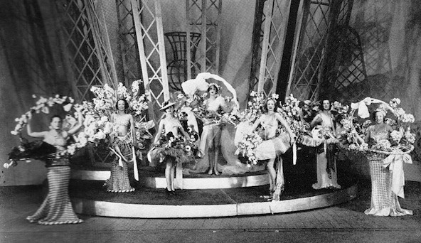 The scene The Flowers of Paris in the cabaret show Folies D'Amour, New York (1936) and London (1937)