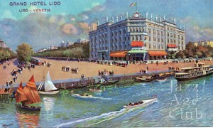A view of the Grand Hotel, Lido, Venice, 1920s