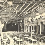 A view of a terrace for concerts at the Casino in Aix Le Bains, 1920s