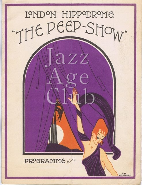 Programme cover for Julian Wylie's The Peepshow at the London Hippodrome, 1921