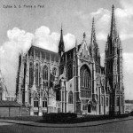 The church in Ostend, 1920s