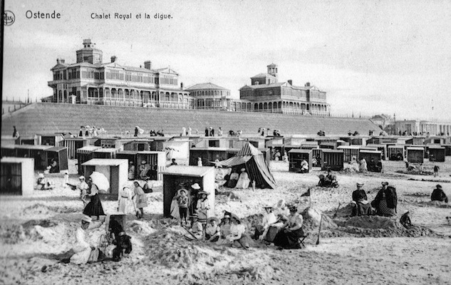 The beach at Ostend, 1920s