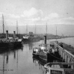 The port at Ostend, 1920s