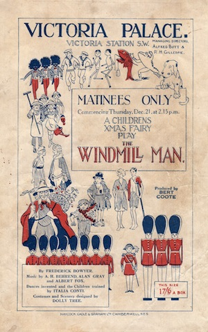 Programme cover for the popular Christmas Play The Windmill Man