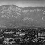 A view of the mountains at Aix Le Bains, 1920s