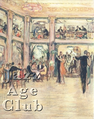 Sketch of the Kit Cat Club in the Haymarket, London, 1920s