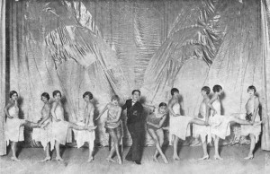 A scene from the cabaret at Chez Nous at the Excelsior Hotel, Lido, 1927 with American dancers Billy Shaw and Bobby Dupree