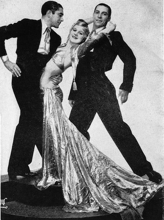 Maria Desty, Delso and Juan in the Revue Folies Bergere staged at the French Casino in Chicago and New York in 1934 and 1935