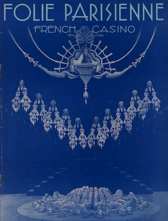 Programme Cover For The Cabaret Show Folies Parisienne Staged In Chicago 1935