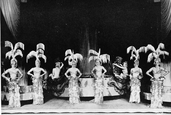 The Fountains scene in the cabaret show Folies Parisienne, staged in Chicago (1935), Miami (1936) and London (1936)