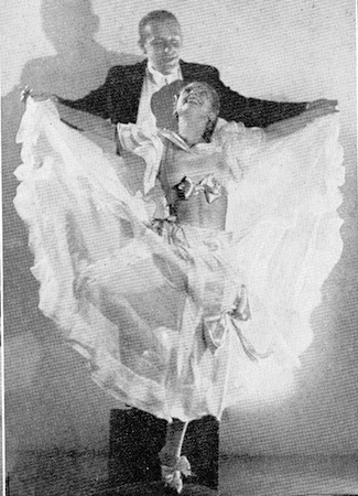 The dancers Marietta and Rudi in the cabaret show Folies Parisienne, staged in Chicago (1935), Miami (1936) and London (1936)