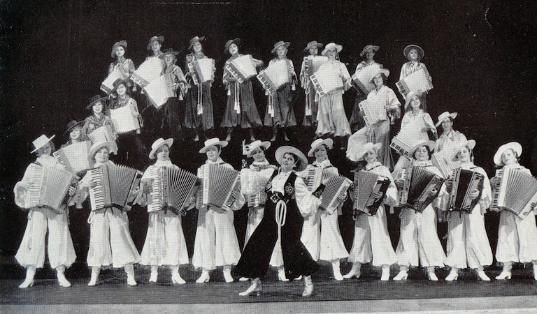 The Accordian scene in the cabaret show Folies de Femmes, staged at the French Casino in New York and the London Casino 1936