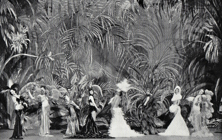 The Women and Feathers scene in the cabaret show Folies de Femmes, staged at the French Casino in New York and the London Casino in 1936