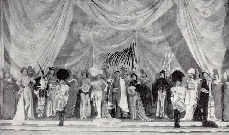 The Military Fashions scene in the cabaret show Folies de Femmes, staged at the French Casino in New York and the London Casino 1936