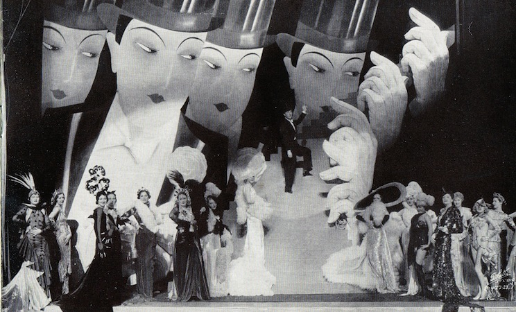The Women From Paris scene in the cabaret show Folies de Femmes, staged at the French Casino in New York and the London Casino in 1936